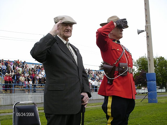 Hugh Ferguson and Constable Wally Silver, Windsor, Ontario, May 25, 2008