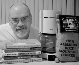 Coffee maker: procedural information; books: supportive information.
