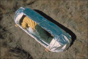 Example of a fire shelter