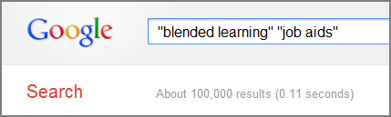Blended learning and job aids