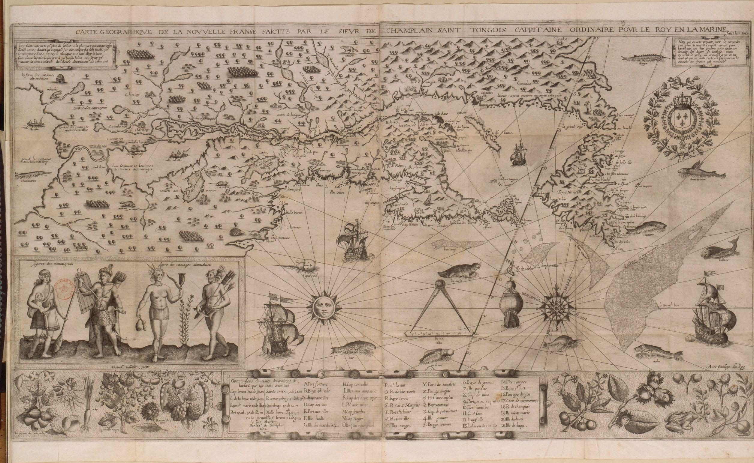 Champlain's 1612 map of New France (from Wikipedia)